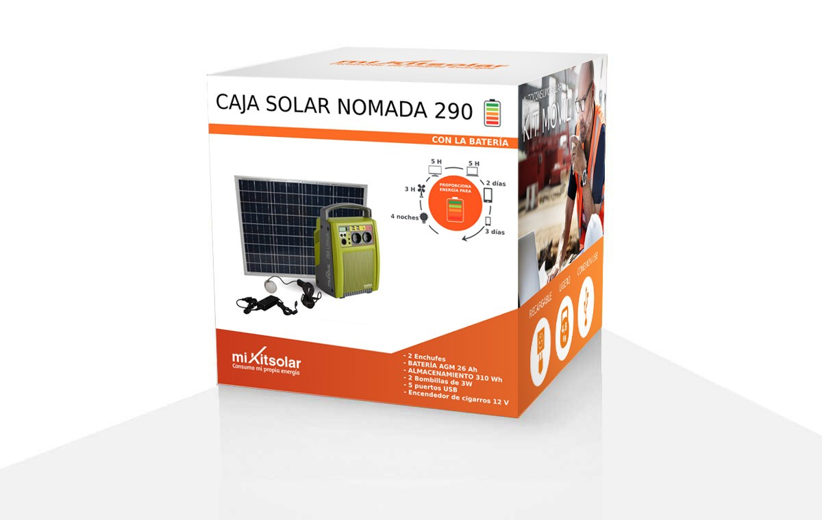 Box solaire nomade 290