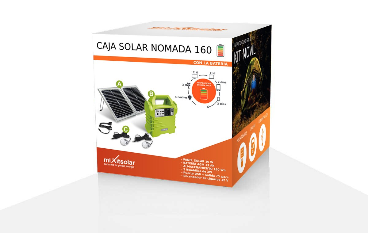 Box solaire nomade 160