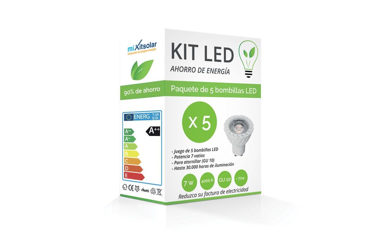 Kit LED Spot GU10 7W  - Blanc froid