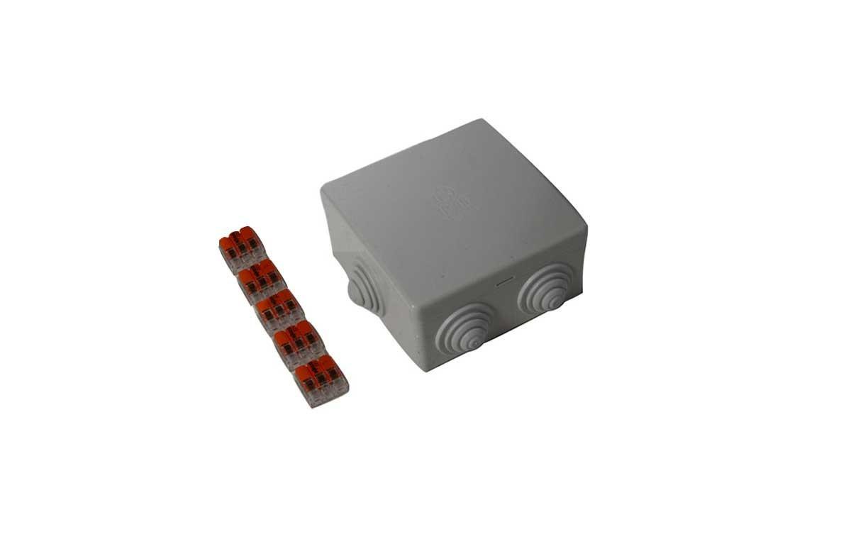 Boîtier de dérivation étanche IP65 + 5 wagos